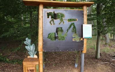 """Waldfenster """"Forstwirtschaft"""" bei Hirzenhain"""