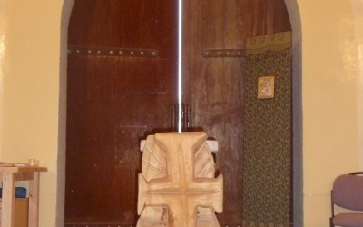 Kreuz in der Andachtskapelle inMazar i Sharif Afghanistan