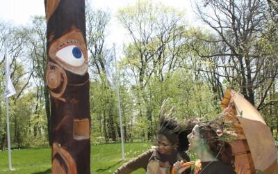 Buchenstele von Silke mit Waldgeisterchen