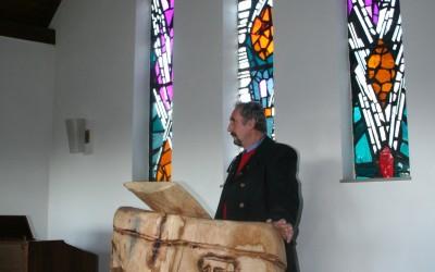 Einweihung der Kanzel in der Kapelle