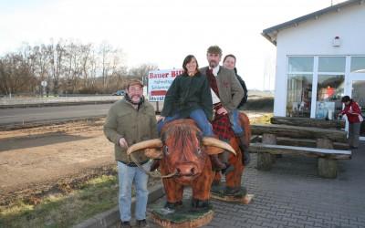Billy der Scottish- Highlandbulle ist bei Bauer Bill angekommen