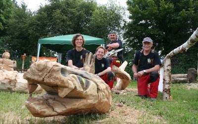 Das ARBOTEC- CARVING-Team auf dem Hessentag 2013