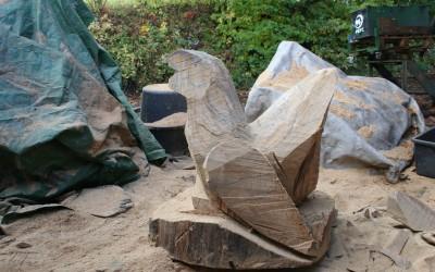 Auerhahn für den Erlebnispfad bei Bad Soden Salmünster als Rohling