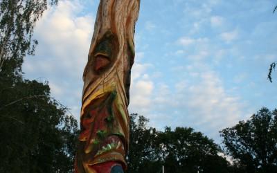 Der Waldkönig auf dem LGS Skulpturenpfad